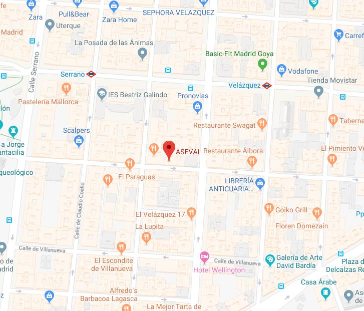 ASEVAL-MADRID. C/ de Jorge Juan, 19,