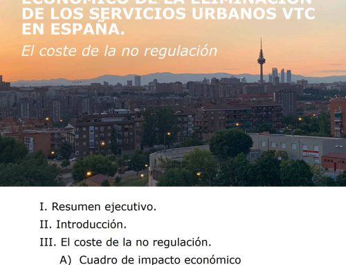 Análisis del impacto económico de la eliminación de los servicios urbanos VTC en España (pdf adjunto)